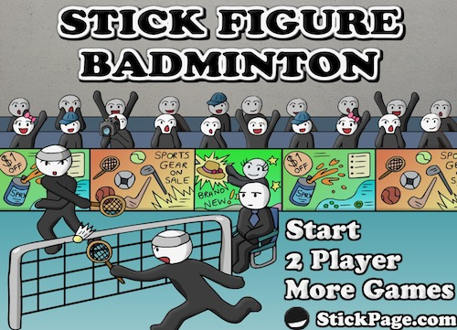 Stick Figure Badminton by StickPage.Com