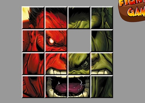 Red vs Green Hulk Sliding