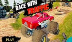 Ultimate Monster Truck Race With Traffic 3D