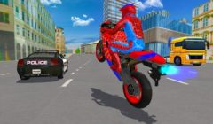 Spider hero (Spiderman) Bike Simulator